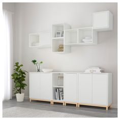 IKEA offers everything from living room furniture to mattresses and bedroom furniture so that you can design your life at home. Check out our furniture and home furnishings! Living Room Decor Ikea, Ikea Decor, Ikea Living Room Storage, Dining Room, Ikea Eket, Ikea Wall, Living Room Cabinets, Ikea Cabinets, Ikea Design