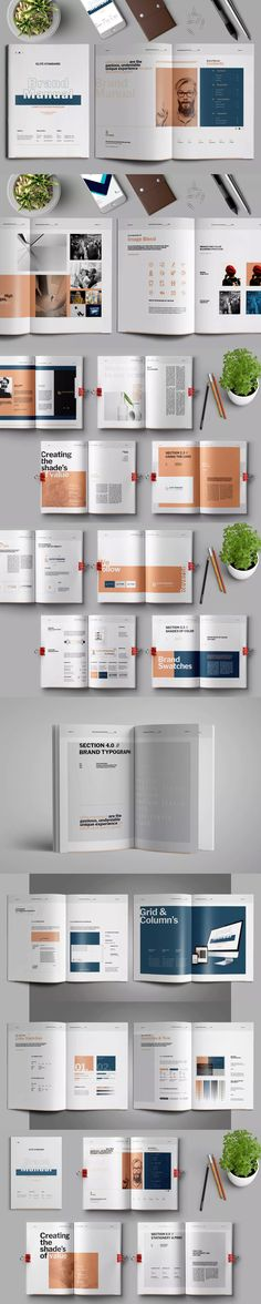 Brand Manual InDesign INDD - A4 and US Letter Size