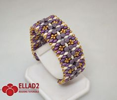 Pelleta Bracelet - with Pellet beads and Superduo's - Beading Tutotials and Patterns - Ellad2