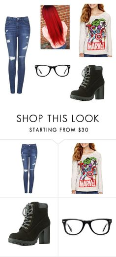"""""""Geekly Chic"""" by jennbyers07 ❤ liked on Polyvore featuring Topshop, Hybrid Tees, Charlotte Russe and Muse"""