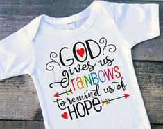 Rainbow of hope christian bodysuit infertility fertility baby ivf baby - - Amelia Baby Name - Ideas of Amelia Baby Name - Rainbow of hope christian bodysuit infertility fertility baby ivf baby miracle baby rainbow baby IVF IVF onesie IVF gift Rainbow Baby Quotes, Rainbow Baby Onesie, Rainbow Baby Announcement, Unusual Baby Names, Miracle Baby, Baby Tattoos, Baby Love, Baby Shower Gifts, Baby Kids