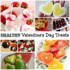 Healthy Valentine's Day Treats Roundup - Ideas for delicious Valentine's Day snacks made with fresh fruits and vegetables and other whole foods.