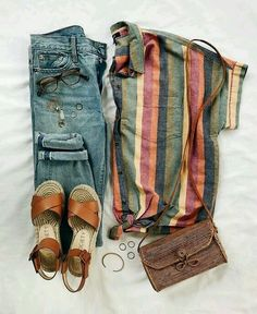 Casual Fall Outfit Inspiration Pin-spired Thrifted Outfits: August – Rachel's Crafted Life Outfit ideas for teen girls, outfit ideas… … Mode Outfits, Casual Outfits, Fashion Outfits, Fashion Trends, Comfortable Outfits, Fashion Clothes, Nerd Outfits, Fashion Accessories, Hipster Outfits