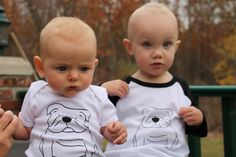 Kids / Toddlers Black and White Unisex by twolittleladybugs15