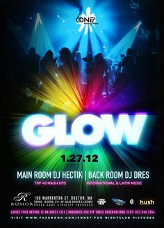 Neon Glow PSD Party Flyer Template - Flyer Templates - Flyer ...