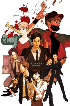 This is wicked! Kpop Fanart, Chanyeol, Exo For Life, Exo Anime, Exo Ot12, Kaisoo, Exo Fan Art, Exo Memes, Kpop Exo