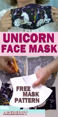 This is a video sewing tutorial on how to sew a face mask from fabric. You will find a free sewing pattern for your own face mask. DIY fabric face mask is an easy sewing project even for a beginner sewist. Easy Sewing Projects, Sewing Projects For Beginners, Sewing Hacks, Sewing Tutorials, Sewing Tips, Bag Tutorials, Easy Face Masks, Homemade Face Masks, Diy Face Mask