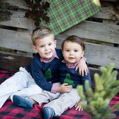 Baby boy Christmas shirts, family Christmas photos, brothers Christmas card, family photo shoot ideas for Christmas Boys Christmas Shirt, Preppy Christmas, Baby Boy Christmas, Family Christmas, Christmas Cards, Xmas, Hipster Girl Outfits, Trendy Boy Outfits, Cute Outfits For Kids