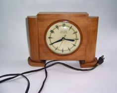 Art Deco Wood Clock by United Self Starting