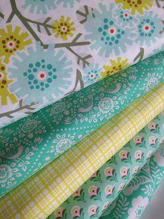 Heather Bailey Clementine fabric bundle by Fabric Shoppe Online Fabric- Fat Quarter Bundle, 5 total