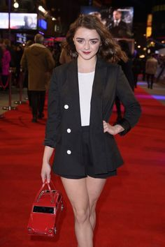 Maisie Williams graced the red carpet at The Revenant film premiere