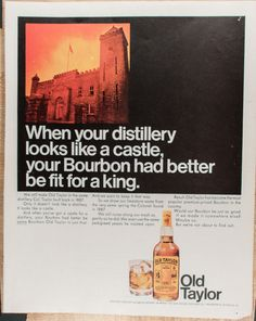 Vintage Old Taylor Distillery Ad from 1968  by VintageVirtus