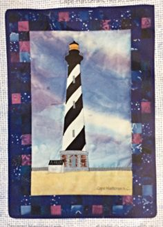 Lighthouse Quilt Block Pattern, Cape Hatteras Lighthouse Pattern, The Country Quilter, Beacons of Light Quilt Block