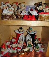 pixie elf vintage collection display - Google Search