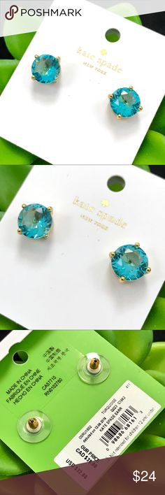 Kate Spade Turquoise Gumdrop Earrings NWT. Authentic. Comes with the dust bag. Turquoise Glass Stone/Gold Tone. Post back. No Trades. Price is Firm kate spade Jewelry Earrings