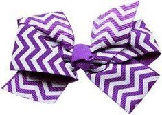 Mirage Pet Products Hair Bow Chevron French, Barrette Purple