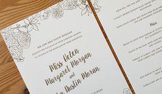 Bespoke Letterpress Invitation. POA.   Gold ink on 100% cotton stock.  The Hunter Press.
