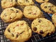 """Chocolate Chip Peppermint Cookies from Food.com:   A """"Christmasy"""" version of chocolate chip cookies.  Use crushed candy canes or the round red and white peppermint hard candies.  The shortening helps make them soft."""