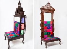 aparna repurposes salvaged antiques into whimsical chairs