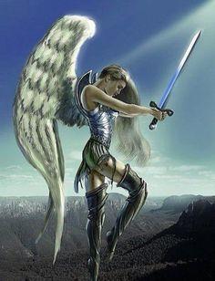 Angel protecting earth.