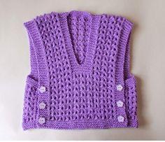Knitting Baby Vest FREE Melika Lacy Baby Vest Top pattern by marianna mel Baby Knitting Patterns, Knitting Blogs, Baby Hats Knitting, Baby Patterns, Free Knitting, Knitted Baby, Crochet Patterns, Toddler Vest, Kids Vest