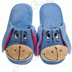 758123191de0 Disney Eeyore Plush Bedroom Slippers Adult Size 6.5