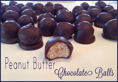 These peanut butter chocolate balls are so yummy! Love that they are no bake and super quick!
