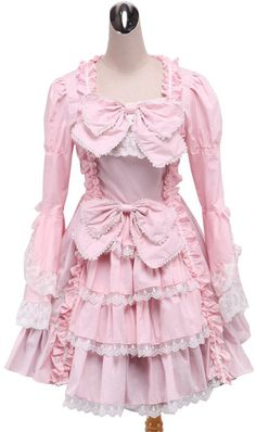 b14fa386b9ac2d an tai na  antaina Cotton Ruffle Bows Lace Luxury Victorian Lolita Cosplay  Dress