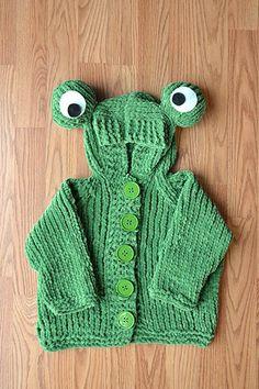 FREE PATTER...Frog Hoodie
