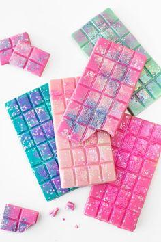 Unicorns glitter chocolate bars!!! Ricas y hermosas Barras de chocolate para mas sigueme los Kiero mis unicornios - camifer