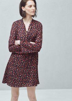 Flowy print dress - Dresses for Woman   MANGO