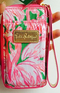 Lilly Pulitzer iPhone 6 Carded ID Wristlet in Pink Colony via @swoonworthyblog Instagram