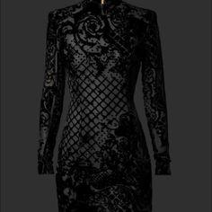 7659ae8899e9e Balmain X h&m dress size 6 Nwt Balmain X H&M - Black Silk Blend Velvet Dress  SIZE 6 includes balmain h& m perfume sample***No Trades/Price is Firm here  ...