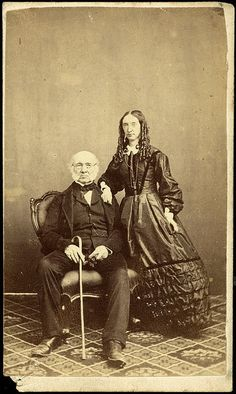 John Alexander Gilfillan and (daughter?), circa photographed by Batchelder & Co of Melbourne, Australia. This copy negative made by Tesla Stu. Old Images, Old Pictures, Old Photos, Vintage Photos, Victorian Costume, Victorian Era, Fake History, Old West, Melbourne Australia