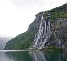 The Seven Sisters Waterfall, Geiranger, Norway.