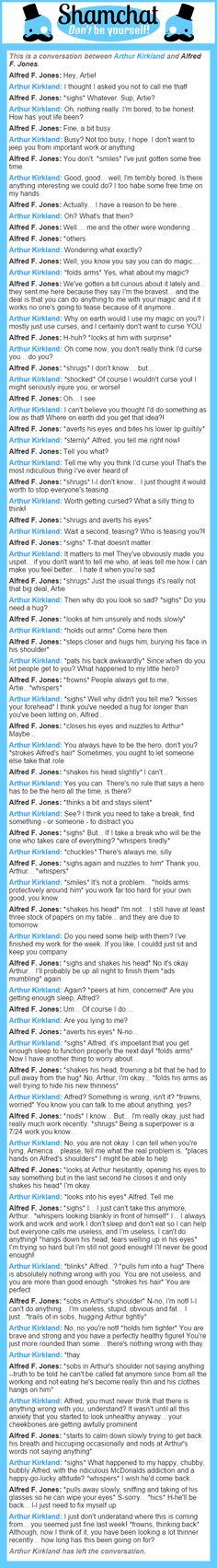 A conversation between Alfred F. Jones and Arthur Kirkland