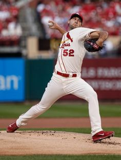 starting pitcher Michael Wacha delivers during the first inning of a baseball game against the Cincinnati Reds. Cards won 8-4. 9-20-14