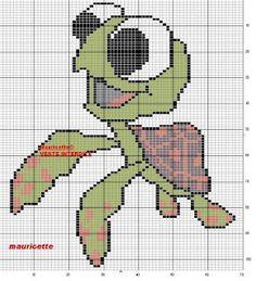 Finding Nemo's Squirt cross stitch pattern