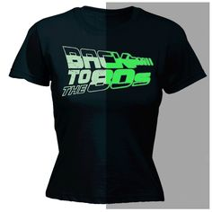 123t USA Women's Back To The 80s Glow In The Dark Design Funny T-Shirt