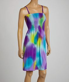 Love this Purple Abstract Sleeveless Dress by Just Love on #zulily! #zulilyfinds