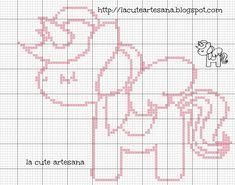 La Cute Artesana: Punto de Cruz: gráfico gratis