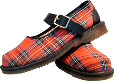 Vintage Dr. Martens Red Tartan Mary Jane Shoes = Holy cuteness Batman I need to find some like these!