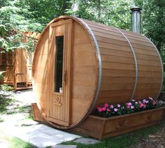 Amazon.com: Barrel Sauna Kit - Outdoor Barrel Sauna Room 7' x 7' -Wood Fired Sauna: Home & Kitchen