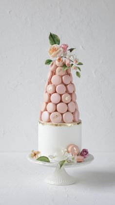 macaron cake wedding Wedding Cakes — Cupcakes and Counting Different Wedding Cakes, Wedding Cakes With Cupcakes, Cool Wedding Cakes, Wedding Cake Toppers, Cupcake Cakes, Shoe Cakes, Macaroon Tower, Macaroon Cake, Macaron Cookies