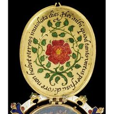 The Heneage Jewel, c.1595, painted by Nicholas Hilliard, incorporates a Tudor rose, symbol of the Tudor dynasty. (Victoria & Albert Museum)