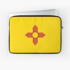 """""""New Mexico Patriotic State Flag"""" Laptop Sleeve by ArgosDesigns 