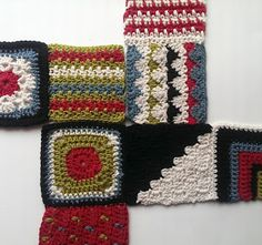 McAree Blog: McAree Crochet Along: Making up Nordic Inspired bag - squares and bag pattern available on Ravelry