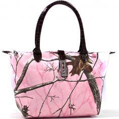 Realtree® APP Pink Camo Twist Lock Camo Tote