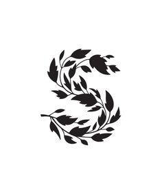 """S"" / font fern / type / lettering / illustration / plant / Logo Design, Type Design, Graphic Design Typography, Design Web, Japanese Typography, Lettering Design, Logo Inspiration, Typographie Inspiration, Types Of Lettering"