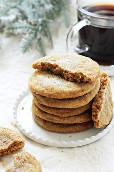 Made with just a few simple ingredients, these easy cookies are excellent for the holiday season! Irresistibly delicious and dairy free! Baking Recipes, Cookie Recipes, Snack Recipes, Dessert Recipes, Snacks, Just Desserts, Delicious Desserts, Yummy Food, Healthy Food